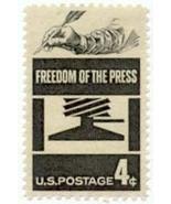 1958 4c Freedom of the Press Scott 1119 Mint F/VF NH - $18,64 MXN