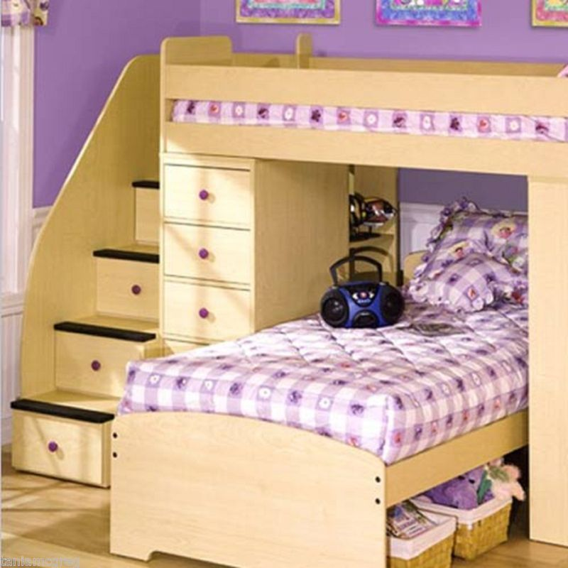 Twin Day And Night Loft Bunk Beds New Bedroom Furniture
