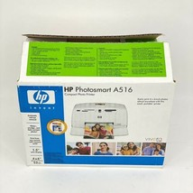HP Photosmart A516 Compact Color Photo Printer Travel Size 4x6 Passport New - $64.34