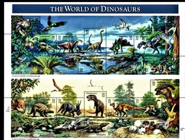USPS Stamps -  WORLD OF DINOSAURS MINT SHEET 15 - .32 STAMPS MNH - $10.50