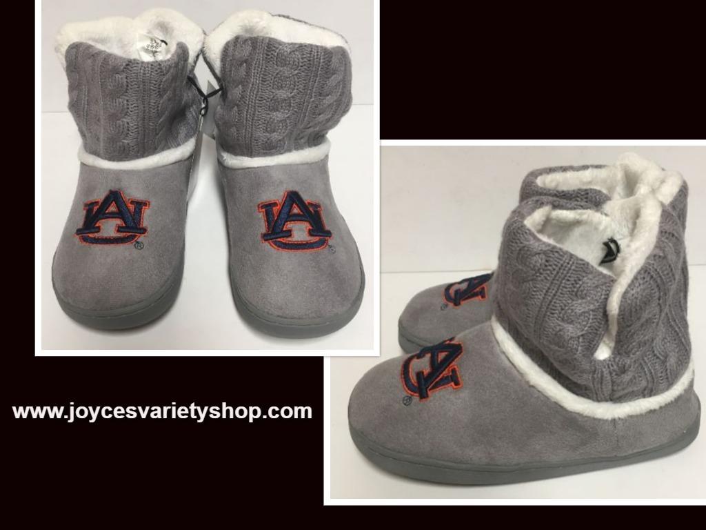 Auburn University Fur Knit Boots AU Logo Women's Many Sizes