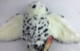 FOLKMANIS PLUSH SNOWY OWL HAND PUPPET - HARRY POTTER HEDWIG TYPE - NEW i... - $28.04