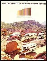 1972 Chevy RV, Blazer, and Camper Brochure Xlnt! GM 72 - $11.15
