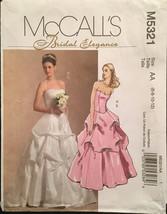 McCall's M5321 Bridal Elegance Princess Seam Bustier & Skirts w Draping & Train - $8.00
