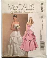 McCall's M5321 Bridal Elegance Princess Seam Bustier & Skirts w Draping ... - $8.00
