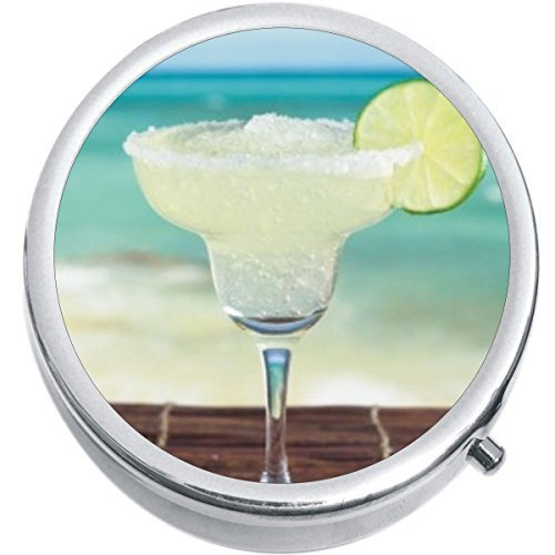 Primary image for Margarita Beach Medicine Vitamin Compact Pill Box