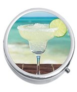 Margarita Beach Medicine Vitamin Compact Pill Box - $9.78