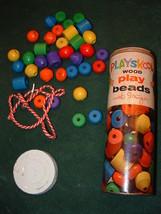 PLAYSKOOL WOOD PLAY BEADS W/ STRINGER - $19.95
