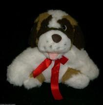 """12"""" VINTAGE FIESTA ST BENARD BROWN TAN WHITE PUPPY DOG STUFFED ANIMAL PL... - $23.38"""