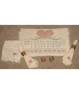 Set of Heart Pastel Placemats, Napkins, Rings - $12.99