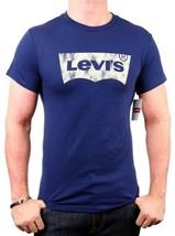 NEW NWT LEVI'S MEN'S PREMIUM CLASSIC GRAPHIC COTTON T-SHIRT SHIRT TEE BLUE