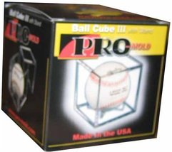 Square Ball Holder Display Case Baseball New Cube by pro mold - $18.12
