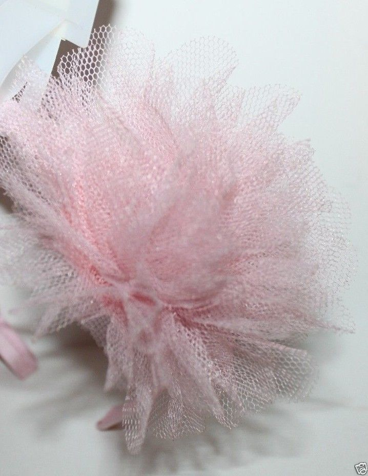 Gap Kids NWT Girl's Lt. Pink Headband w/ Tulle Puff Rosette - Fits ages 4-12 image 2