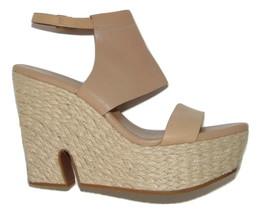 COLE HAAN Cut Out Heel Espadrille Wedge sandals Sandstone 9 M women - $52.99