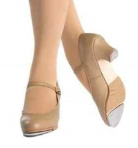 Capezio 560 Tan Women's Size 5M (Fits 4.5 Leather Jr. Footlight Buckle T... - $29.99