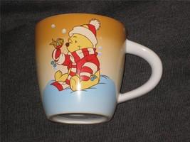 DISNEY STORE WINTER POOH BEAR & FRIEND CUP. BRAND NEW. - $15.83