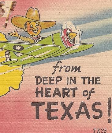 "MC Comic Post Card ""Greetings From Deep In The Heart of Texas!"" Uncirculated!"