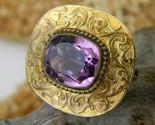 Antique_victorian_amethyst_brooch_pin_brass_goldtone_thumb155_crop