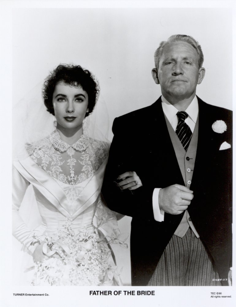 Father of the Bride Spencer Tracy Elizabeth Taylor Press Photo Still Movie