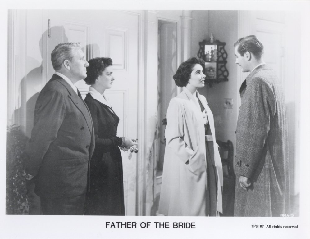 Father of the Bride Spencer Tracy Joan Bennett Elizabeth Taylor Press Photo
