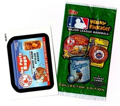 "2016 Wacky Packages Baseball Series 1 ""Boston Red Sox Tea"" Promo Sticker MLBW-5 - $1.00"