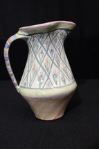 "Vintage MacKenzie Childs Hand Painted BEARDED IRIS Striped Floral 8"" Pit... - $99.99"
