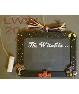New Halloween The Witch is... Chalk Board Sign Handmade - $9.99