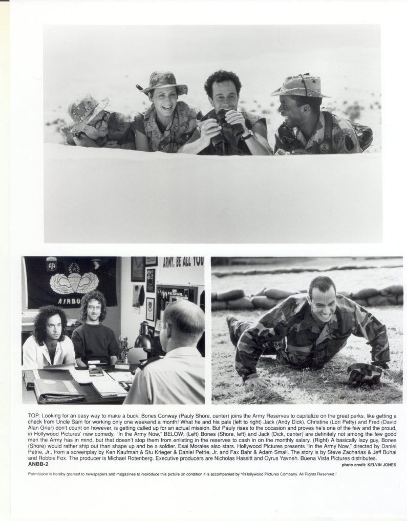 2 In the Army Now Pauly Shore Andy Dick Lori Petty Press Promo Photos Movie