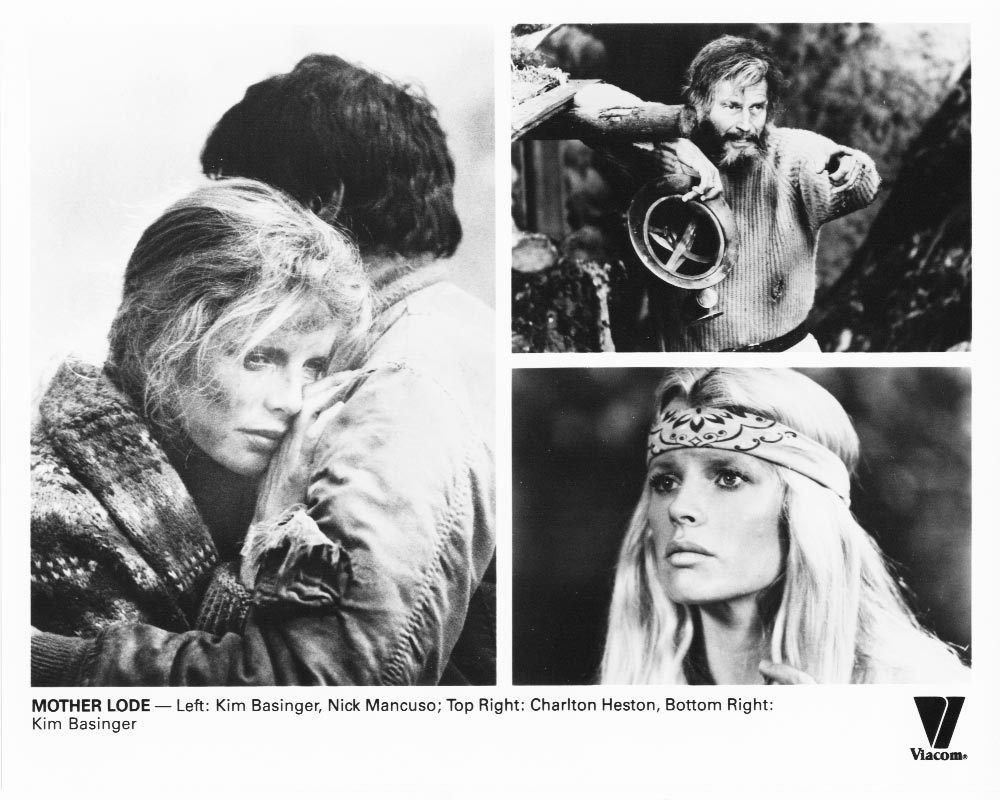 2 Mother Lode Charlton Heston Kim Basinger Poster Art Press Photos Film Movie