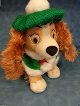 "Authentic Disney Store Original Lady ""Lady & The Tramp"" Soft Plush 12"" Holiday - $16.81"