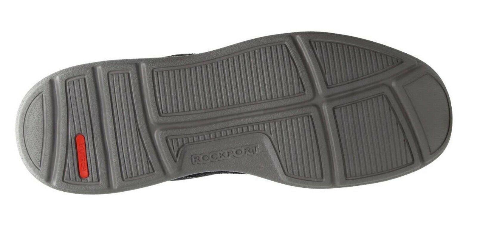 Mens Rockport Zaden Plain Toe Oxfords - Navy Nubuck Mesh Size 9 [CH4927]