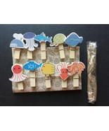 10pcs Wooden Paper Clip,wooden pegs for Kid's Birthday Party Decorative ... - $0.90