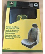 John Deere LP49603 Polyvinyl Black Sideless Seat Cover With Head Rest Cover - $50.00