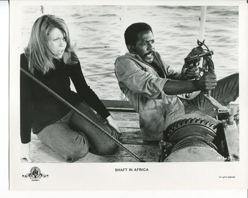 3 Shaft in Africa Press Photos Richard Roundtree Neda Arneri Movie 1973
