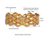 Endy jewelry wholesale dubai gold color rhinestone 21cm 25mm bracelets bangles for thumb155 crop