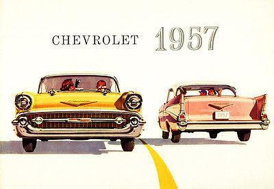 Primary image for 1957 Chevrolet Bel Air - Promotional Advertising Poster