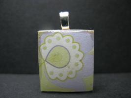 Flower - Scrabble Tile Pendant - $5.00