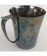 Antique Arts & Crafts Deco PSL Sheffield Silver Plate Tankard Mug Amazin... - $94.95