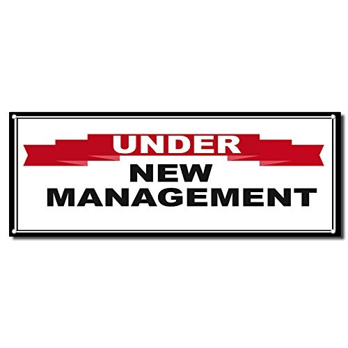 Under New Management Red Ribbon Business Vinyl Banner Sign W/ Grommets 5 Ft X 12