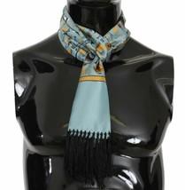 Dolce & Gabbana Mens Blue Musical Brass Jazz Instruments Print 100% Silk... - $133.65