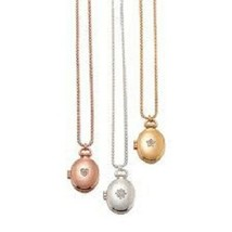 Avon Metal Oval Locket Necklace - $17.99