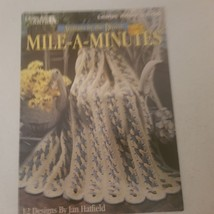 Afghans by the Dozen Mile-A-Minutes Leisure Arts 2697 VTG 1995 - $7.68