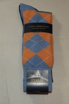 Mens Polo Ralph Lauren 3 Pack Pair Socks Sock Size 10-13 BLUEH Combed Co... - $39.59