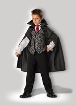Incharacter Mitternachts Vampir Umhang Horror Kind Jungen Halloween Kostüm - $37.93