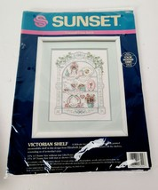 Sunset Victorian Shelf Counted Cross Stitch Sewing Kit 13544 Sealed - $24.99