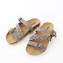 make taupe nubuck flat sandal - $21.00
