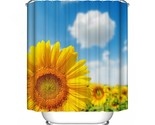 N polyester waterproof bathroom curtain decorations sunflower ink lotus camellia 2 thumb155 crop