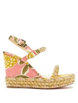 Christian Louboutin Gold Pyraclou 110MM Sandals New - $829.00