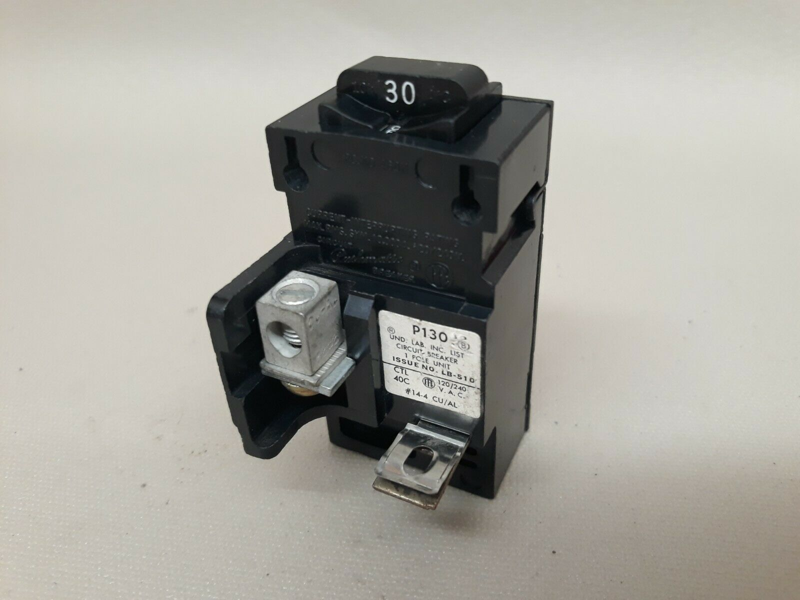 30 Amp Pushmatic ITE Gould Siemens 30A 120V Single or 1 Pole P130 Breaker Nice! - $22.95