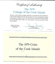 1979 Cook Islands 8 Coin 2 Piece C.O.A. And Document Set~No Coins~Free S... - $6.56